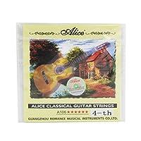 Alice A106クラシックギターストリングクリアナイロンギターストリング,D-4th