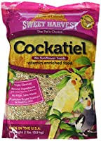 Kaylor Sweet Harverst Vitamin Enriched Cockatiel No Sunflower Seed Grass 2lbs