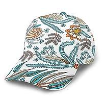 キャップ メンズ レディース 帽子 春夏秋冬 野球帽 ゴルフ テニス UVカット 日除け 紫外線対策 調整可能 男女兼用 バティックファンタジーフラワー