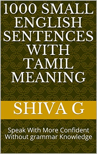 amazon 1000 small english sentences with tamil meaning speak with