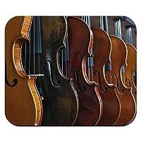 バイオリンの行 - 音楽オーケストラ楽器マウスパッド