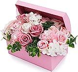 父の日 ソープフラワー 創意ジュエリーギフトボックス 誕生日 母の日 記念日 先生の日 バレンタインデー 昇進 転居など最適としてのプレゼント (ピンク)
