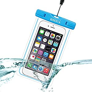 [リベルタ]LIBERTA 防水ケース スマートフォン スマホ 防水カバー 防水ポーチ iPhone6s Plus iPhone5s ネックストラップ付 日本語説明書 ブルー