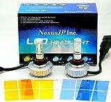 【NexusJP正規品】【次世代CREE製LED】 H11 ヘッドライト フォグライト4400ルーメン【12ヶ月保証】 【車検対応】【左右2本1SET】 取り付け後も3000Kのイエローから10000Kのブルーまで任意で再設定可能 CREE製 最新LED CHIP搭載