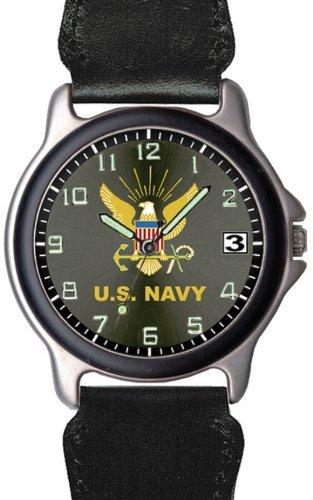 U.S. Navy USネイビー with Leather & Nylon Wristband 男性用 メンズ 腕時計 (並行輸入)