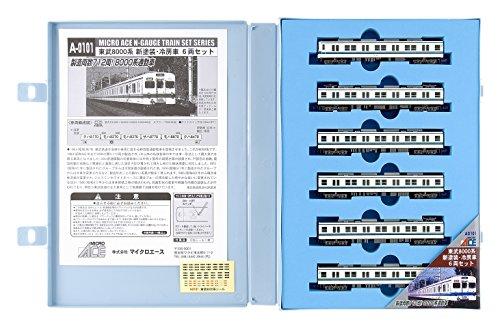 Nゲージ A0101 東武8000系 新塗装・冷房車 6両セット