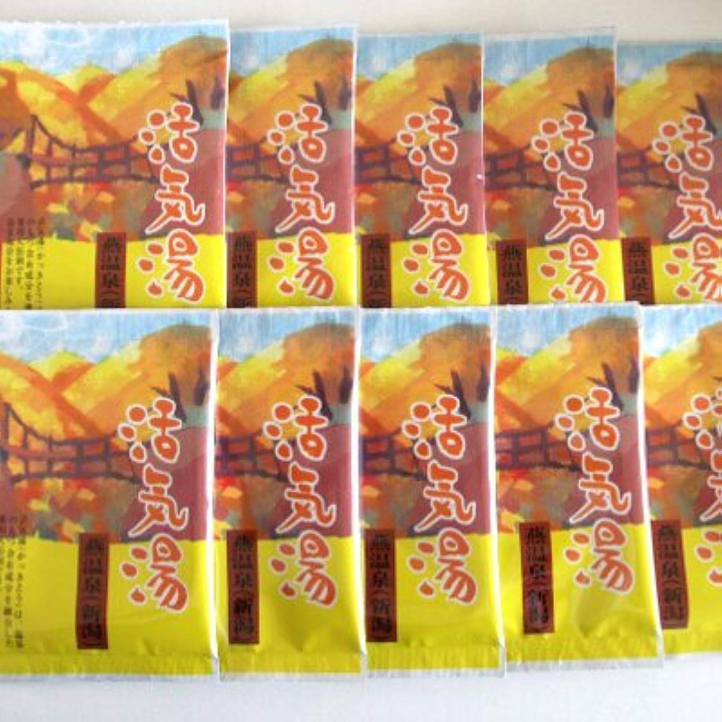 イブニング固体小道具活気湯 燕温泉(シトラス) 10包セット