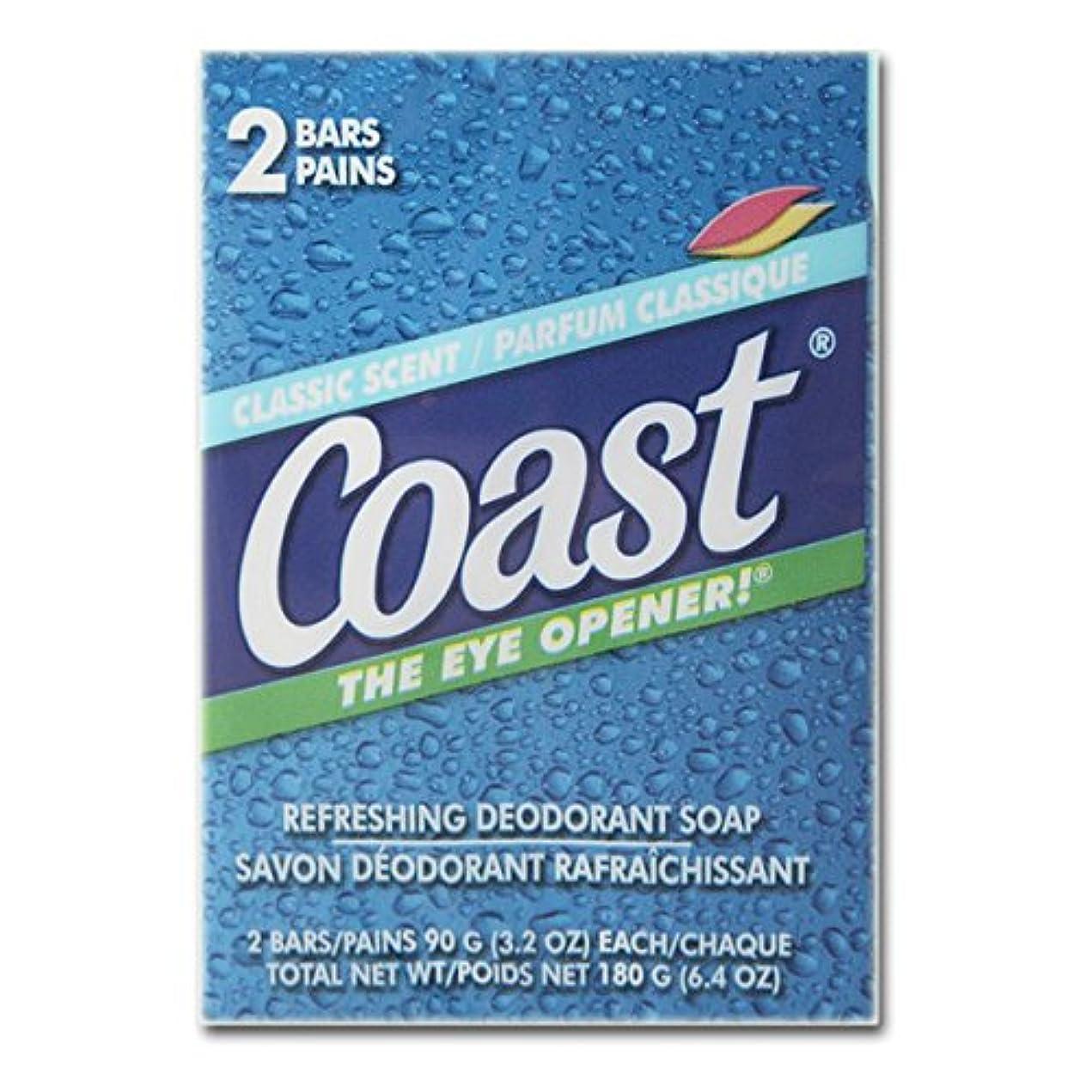 コンバーチブル震えチャンスコースト(Coast) 石けんパシフィックフォース2個入り×12パック(24個)