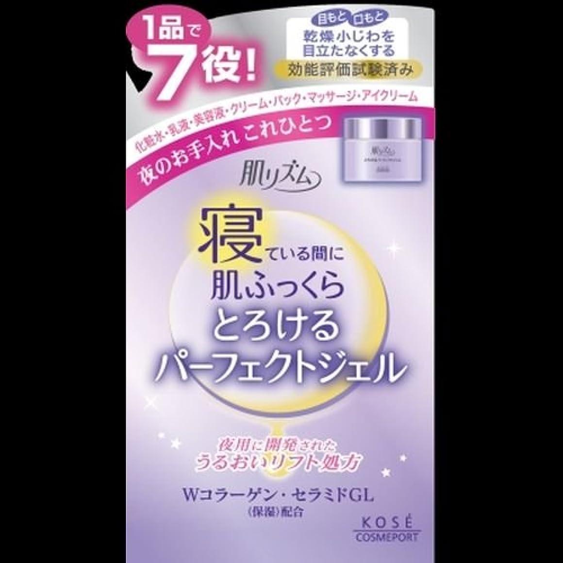 サークルゲインセイ減らすコーセー 肌リズム うるおい濃密ジェル 100g ×2セット