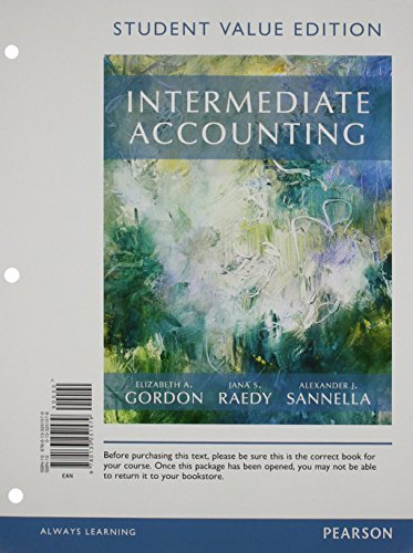 Download Intermediate Accounting, Student Value Edition Plus MyLab Accounting with Pearson eText -- Access Card Package 0134047435