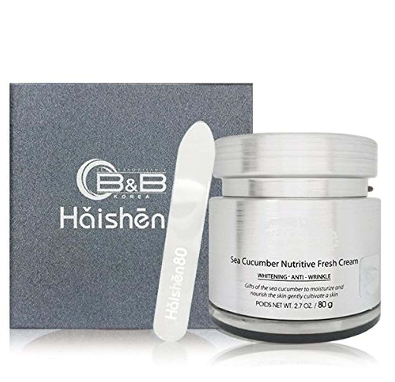 マングル正確ななんとなく[訳有り?OUTLET]Haishen80 Sea cucumber Nutritious Fresh Cream 80g ハイサン 80 シーキューカンバーニュトゥリチブフレッシュクリーム 80g