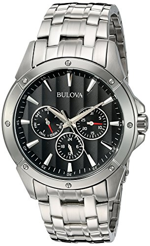 Bulova ブローバ メンズ 腕時計 96C107 Black Dial Bracelet Watch 【並行輸入品】