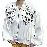 (ノーブランド品) アウター MA-1 スカジャン ジャンパー ジャケット レディース 刺繍 刺繍スカジャン 刺繍ジャケット 花 フラワー デザインジャケット