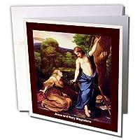 Sandy Mertensイースターヴィンテージ–Jesus and Mary Magdalene–グリーティングカード Set of 6 Greeting Cards