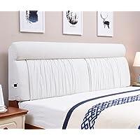 Vercart ヘッドボード ヘッドガード クッション 新生活 洗えるカバー ベッド オシャレ 背もたれ インテリア ホワイト 幅150cm 高さ60cm 奥行き12cm