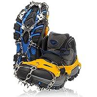 ZAFIELD アイゼン 19本爪 登山 雪山 トレッキング 簡単装着 収納袋付き 男女兼用