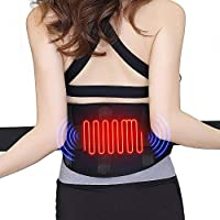 Heating Waist Belt/Lower Back Heat Therapy Wrap/Massage Heated Belt,Portable Heated Belt for Waist Pain Warm Abdomen
