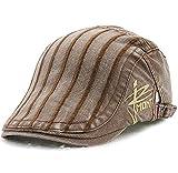 (ムコ) MUCO キャスケット ハンチング帽 欧米刺繍 オシャレ カジュアル レディース メンズ 調節可能 アウトドア UVカッド (6カラー) coffee