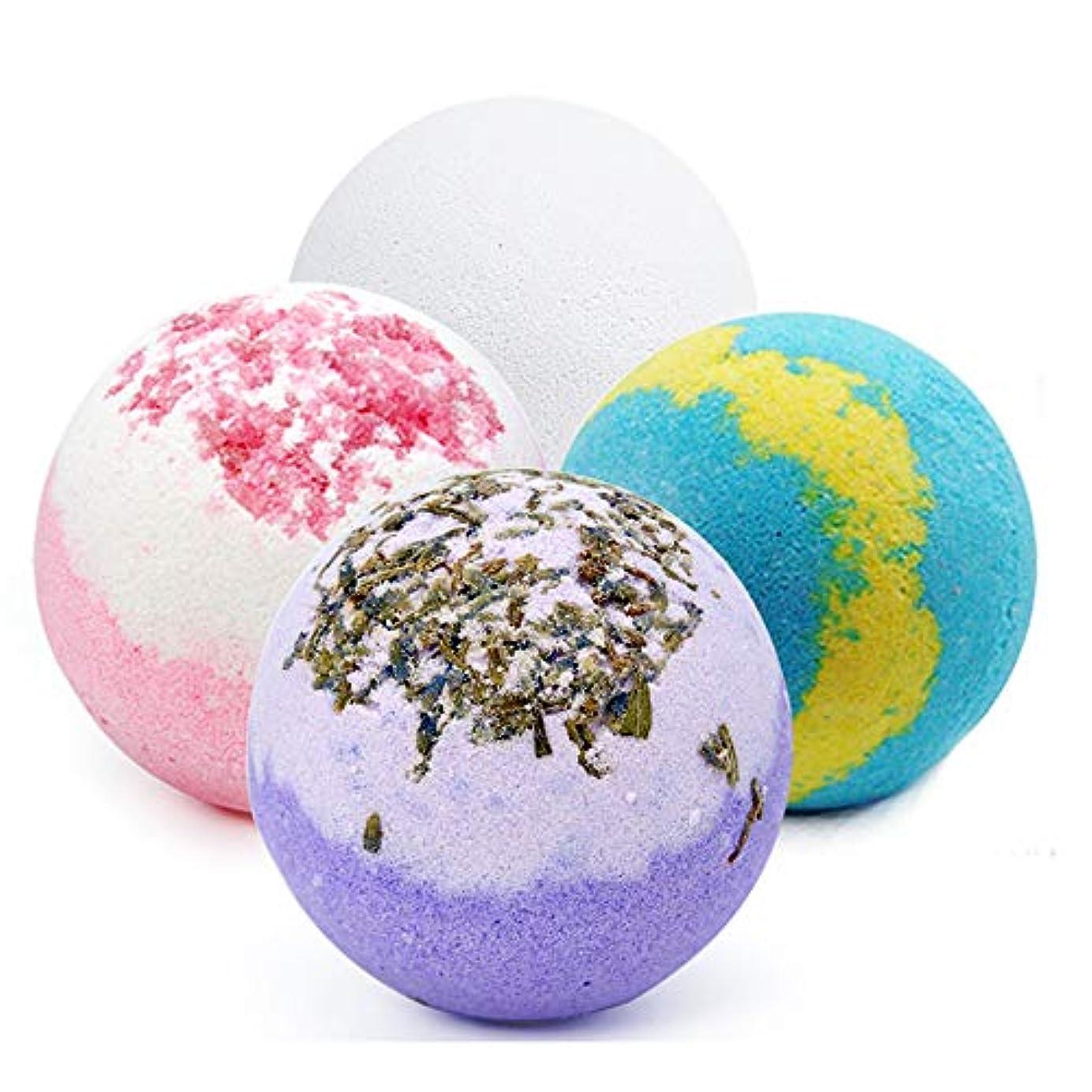 床聞く強化するバスボム 入浴剤 炭酸 バスボール 6つの香り 手作り 入浴料 うるおいプラス お風呂用 入浴剤 ギフトセット4枚 プレゼント最適
