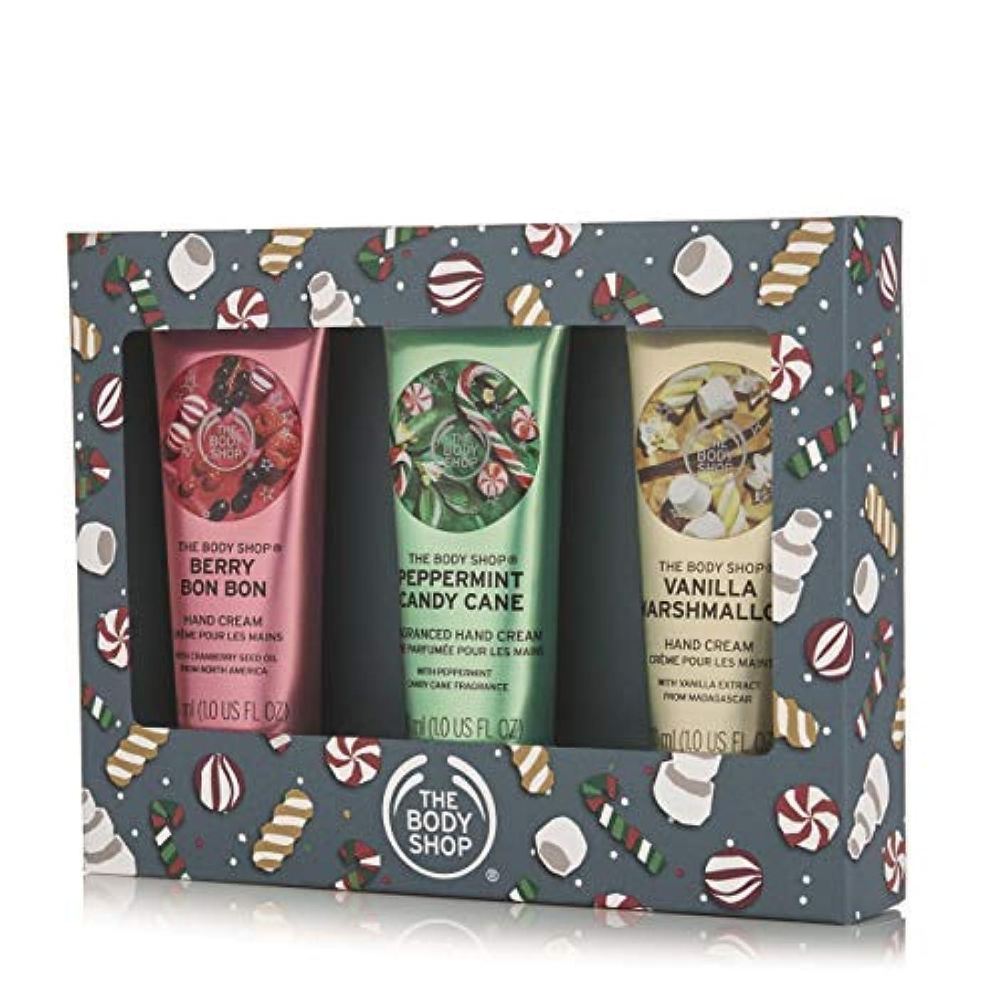 スマート希望に満ちた高価なThe Body Shop Festive Hand Cream Trio Gift Set [並行輸入品]