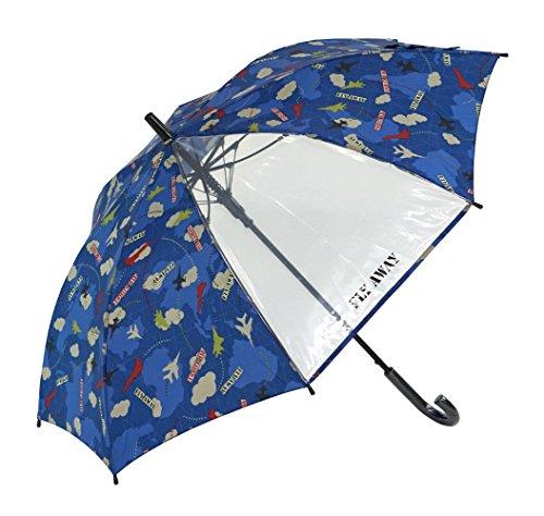 [해외]아테인 KIDS 용 점프 우산 투명 창 부착 섬유 뼈 사용 친뼈 55cm 에어 포스 감색 1282/Atein KIDS jump umbrella with transparent window fiberglass bone use rib bone 55 cm air force navy blue 1282