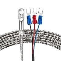 eDealMax Pt100温度センサープローブ2メートルケーブル6 mm穴熱電対-113〜788°F(-45〜420°C)