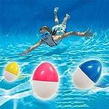 プール遊び おもちゃ 夏 子供 ダイビング 水泳訓練用 タマゴタイプ 泳ぐ 玩具 水遊び 沈むおもちゃ おもしろい スイミング 潜水 トレーニング用 スポーツトイ 6点セット