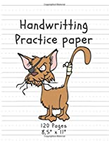 """Handwriting Practice Paper: (Notebook with Dotted Lined Sheets) Bad Cat Edition (120 Pages, 8,5"""" x 11"""") (Handwritting)"""