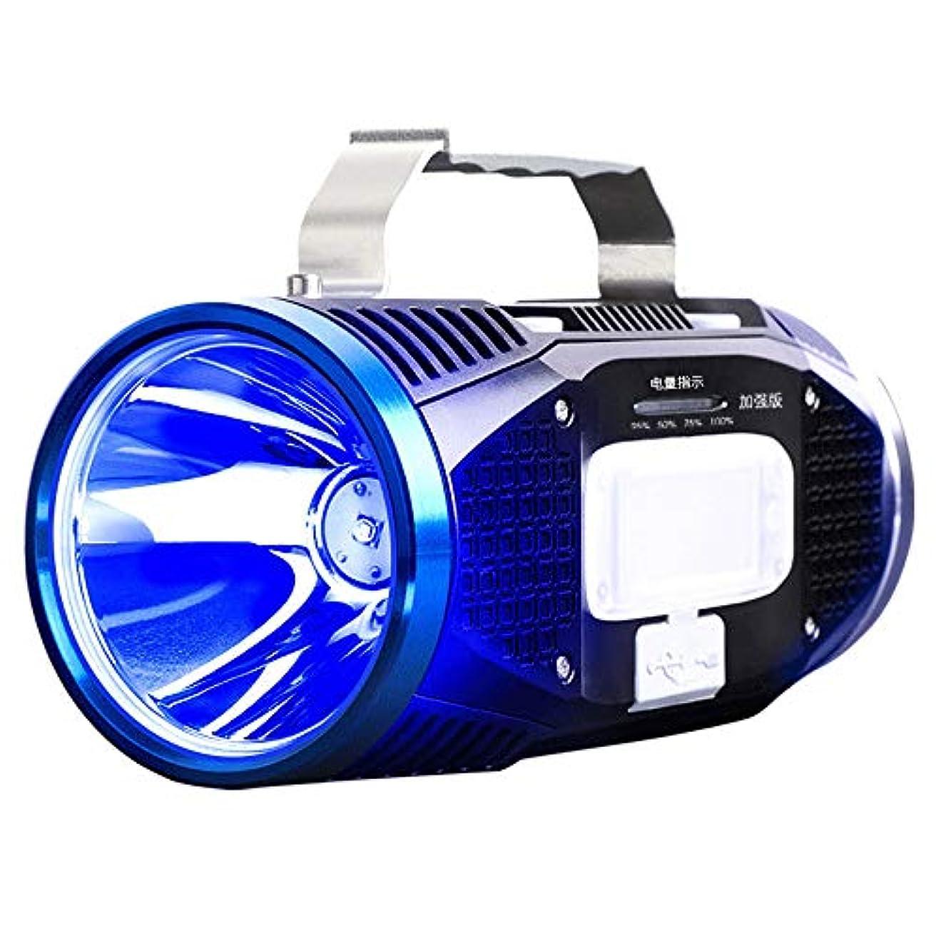 ステンレスフェードエンティティナイトフィッシングライトライト電荷餌ライトブルーとホワイトダブルライトソース超明るい釣りライト