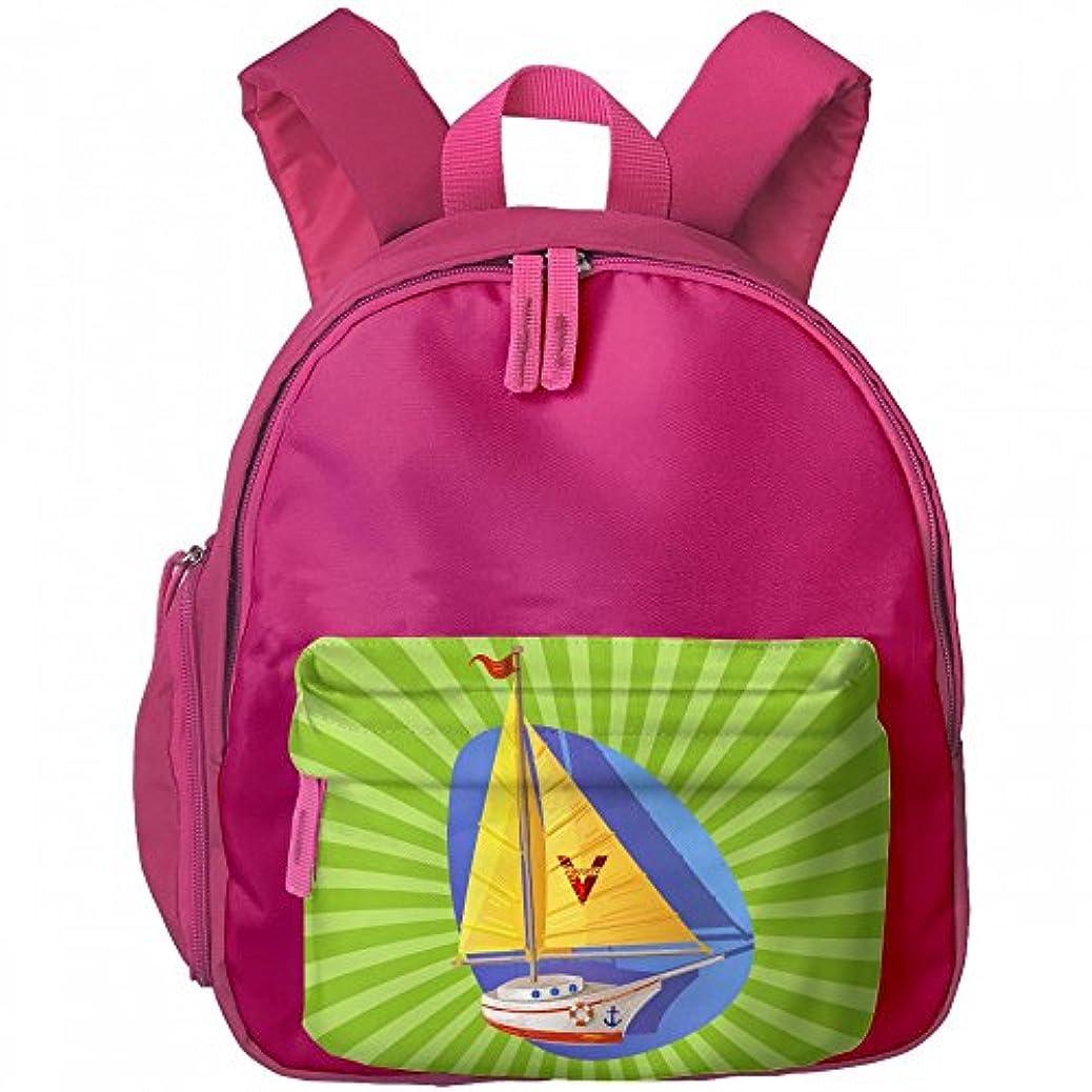 ライオネルグリーンストリート信頼性貫通するストライプ カラー ボート プリントアイデア デザイン おしゃれ 通気性 子ども 男の子 女の子 キッズ リュック 通学 ショルダーバッグ