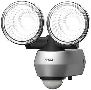 ムサシ RITEX 10W×2 LEDセンサーライト(2灯式) 「コンセント式」 LED-AC2020