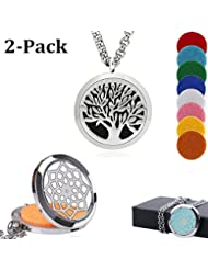 ablerv Car Air Freshener Perfume Essential Oil Diffuser – Tree of Life 38 mmステンレススチールロケットwith Ventクリップfor Aromatherapy...