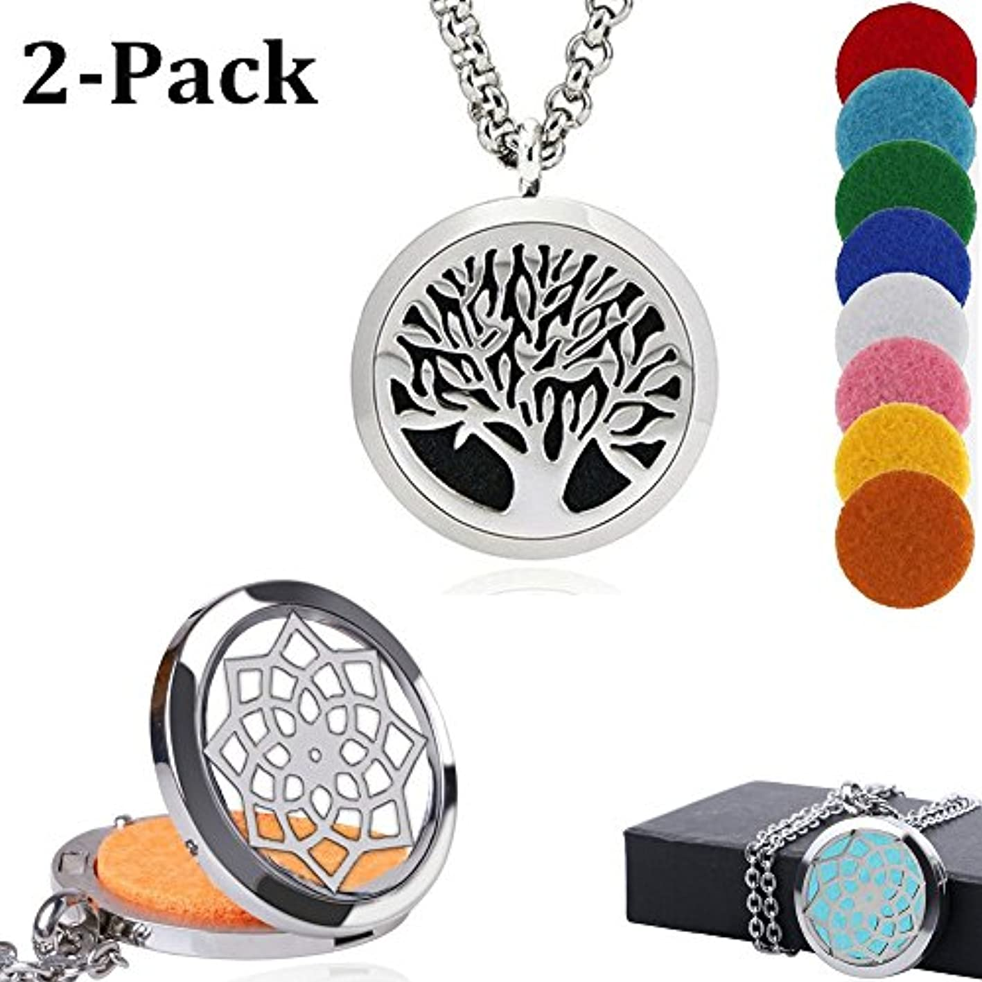 スイス人熟す東ablerv Car Air Freshener Perfume Essential Oil Diffuser – Tree of Life 38 mmステンレススチールロケットwith Ventクリップfor Aromatherapy...