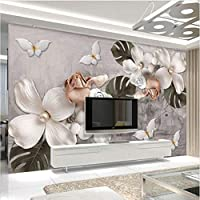 Jason Ming カスタム3Dウォール壁画レトロステレオフラワー壁紙リビングルームテレビソファギャラリー背景アート壁紙用壁3 D家の装飾-350X250Cm