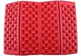 TANJA JOURNAL 収納袋付 折りたたみ式 コンパクト アウトドア マット ベンチ 芝生 レッド