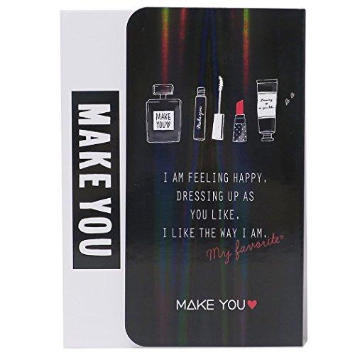 [해외]MAKE YOU 메모장 다이 커버 노트 | # 5 블랙 카미 오 재팬 패션 귀여운 굿즈 판매/MAKE YOU [Notepad] Memo with die cut cover | # 5 Black Kamio Japan fashionable cute goods mail order