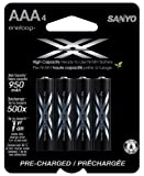 eneloop XX 950mAh Typical / 900mAh Minimum, High Capacity, 4 Pack AAA Ni-MH Pre-Charged Rechargeable Batteries [並行輸入品]