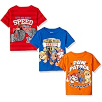 Nickelodeon Boys' Little Boys' Paw Patrol and Blaze 3 Pack T-Shirts