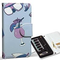 スマコレ ploom TECH プルームテック 専用 レザーケース 手帳型 タバコ ケース カバー 合皮 ケース カバー 収納 プルームケース デザイン 革 海 水着 カメラ 011317