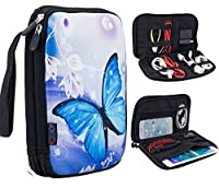 iColor Universal Double Layer Electronics Accessories Bag/Journal Travel Gear Organizer/Hard Drive Case/Cable organizer [並行輸入品]