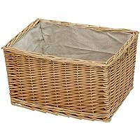 【メルカド かご収納雑貨の店】 カラーボックス対応 深型 Mサイズ かご 収納 ボックス バスケット 内布:ライトグレー