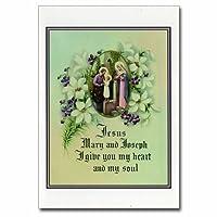 Holy note card (Large Hard)- Jesus Mary Joseph