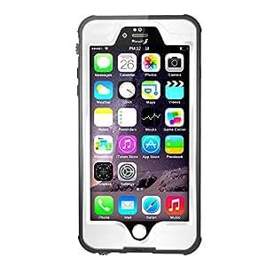 【IVSO】iphone 7 4.7インチ防水ケース PC+TPU 防水規格IP68取得 防塵 落下防止 ランニング、登山などスポーツ型のスマートホン袋及び海水浴,川遊び,水泳,温泉,お風呂,スキー,スノボ, アウトドア等対応 apple iPhone 7用 多機能保護ケース(防水ケース,ホワイト)