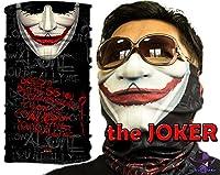 Joker UV Protection Bandana Headwear Fishing Buff Mask Scarf bms014 マスク, 帽子