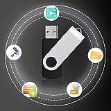 KEXIN USBメモリースティック 64GB USB 3.0 高速フラッシュドライブ 360° 回転式 64G USBフィギュア フラッシュメモリ データ転送 Windows PCに対応 ブラック 画像