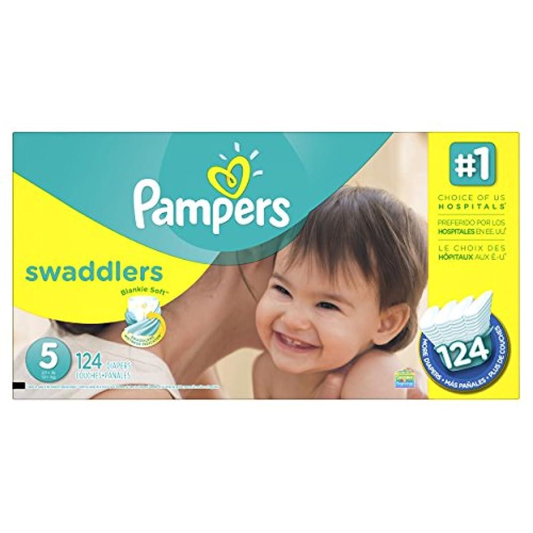 多くの危険がある状況太いロッカーPampers Swaddlers Diapers Size 5 Economy Pack Plus 124 Count by Pampers