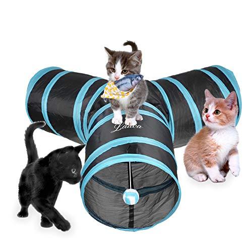Lauva猫3通 トンネルペット用の おもちゃ トンネル ペット玩具, 猫トンネル ペット用品おもちゃ キャット...