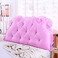単色 ヘッドボード, 枕 ダブル 長い角 畳 ソフトパック ベッド 腰枕 綿-ピンクA W190xH70cm(75x28inch)
