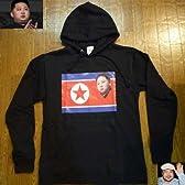 北朝鮮の最高指導者 金正恩(キム・ジョンウン)のパーカー ブラック Lサイズ