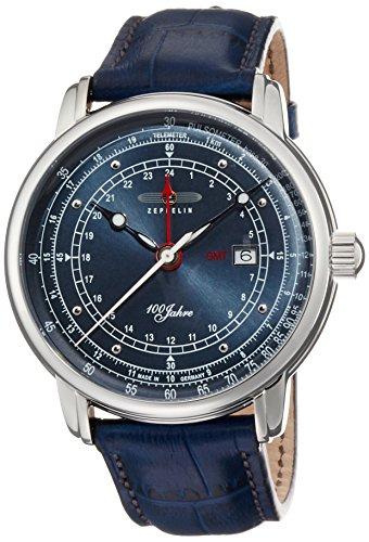 [ツェッペリン]ZEPPELIN 腕時計 SpecialEdition100yearsZeppelin ネイビー文字盤 デイト 7646-3 メンズ 【正規輸入品】